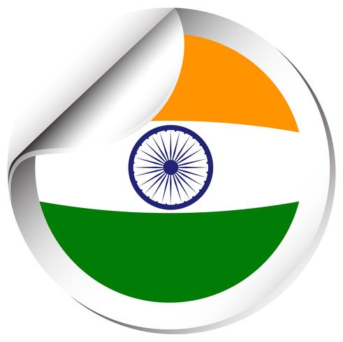 Klistermärke design för Indien flagga