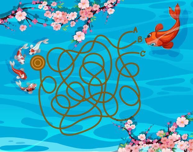 Koi-Fisch-Labyrinth-Spiel