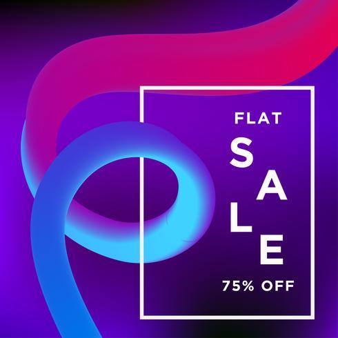 Banner de venta en el fondo Liquify y Fluid Shape