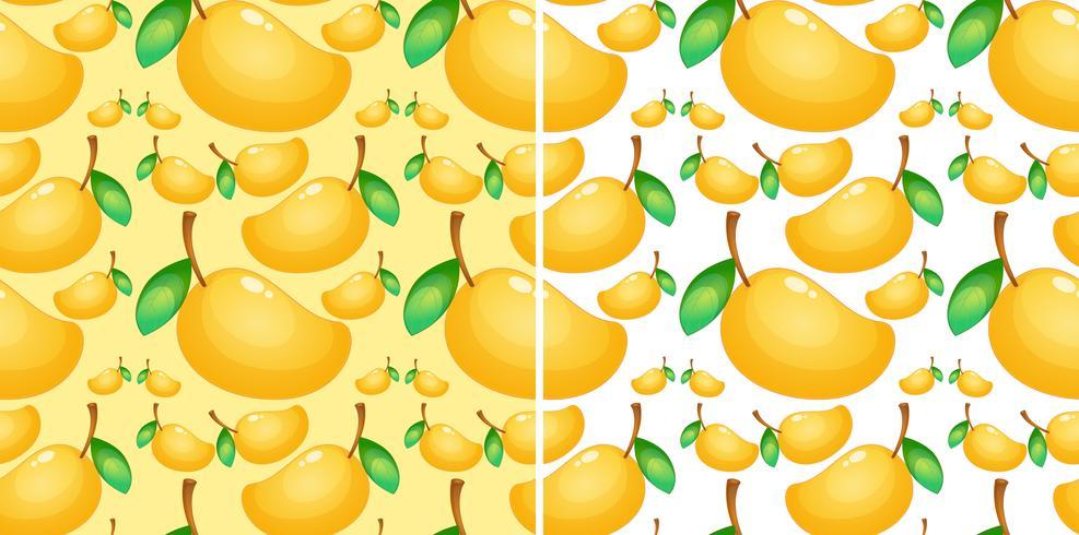 Naadloze achtergrond met verse mango