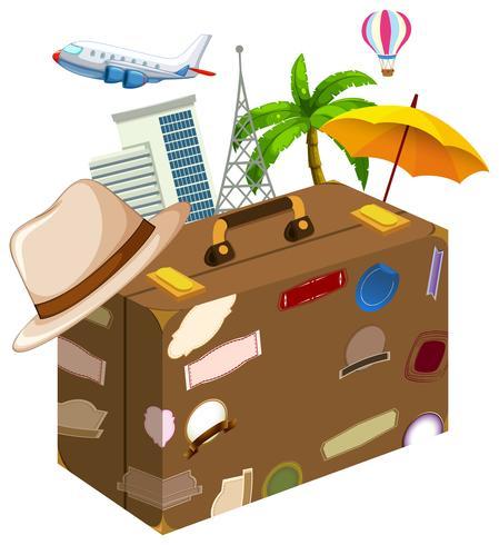 Satz von Reiseobjekten