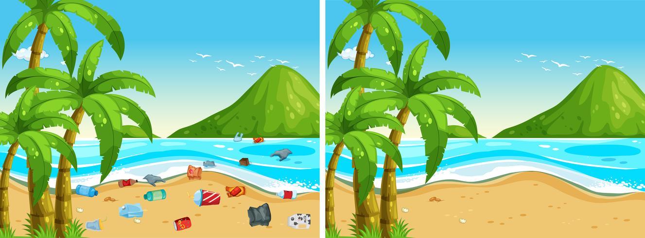 Pulizia prima e dopo la spiaggia