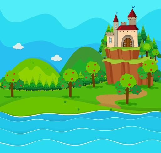 castle towers by the river download free vectors clipart graphics vector art castle towers by the river download
