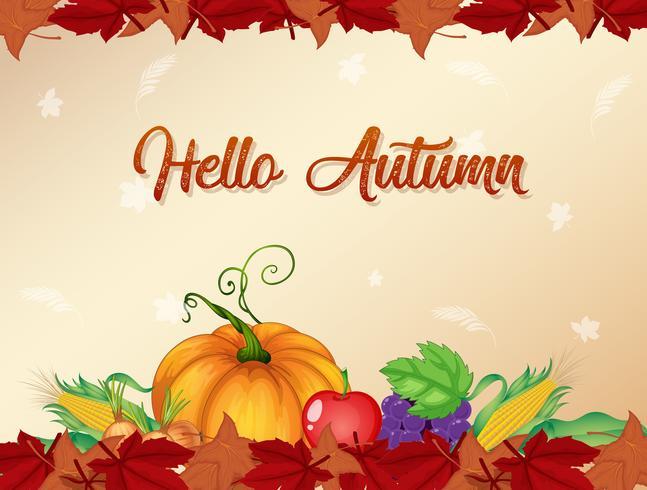 Orange autumn template background