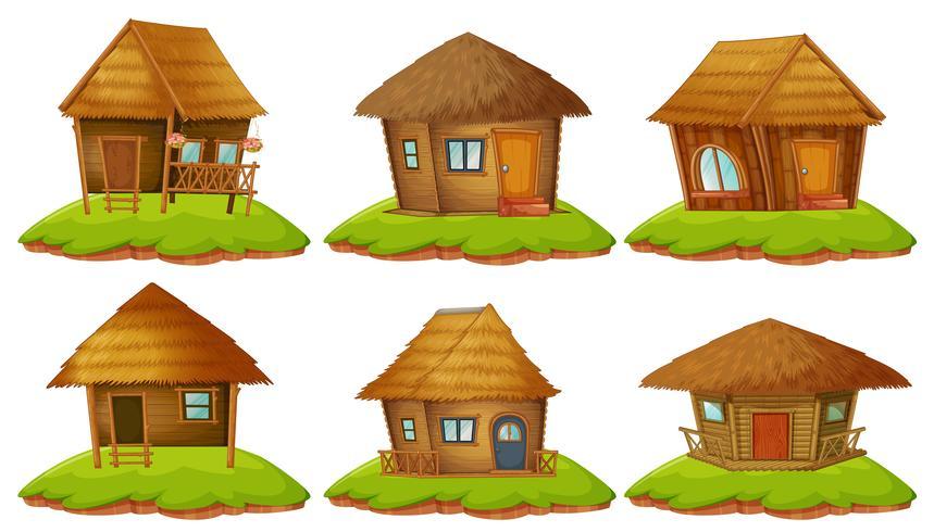Diferentes diseños de casas de madera.