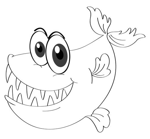 Animal skiss för fisk
