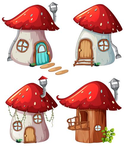Set von Pilzhaus