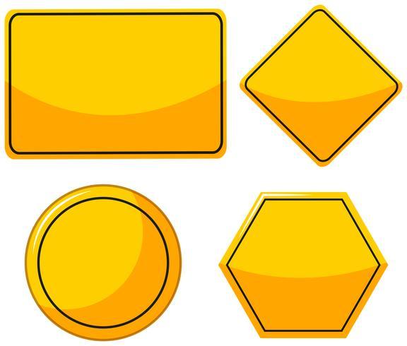 Olika mönster för gula tecken