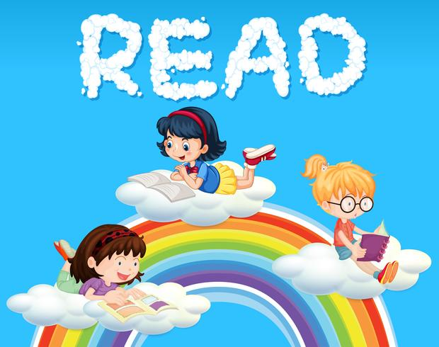 Livre de lecture filles sur nuage