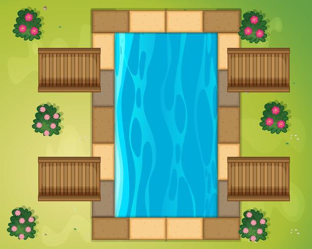 Piccola piscina nel parco