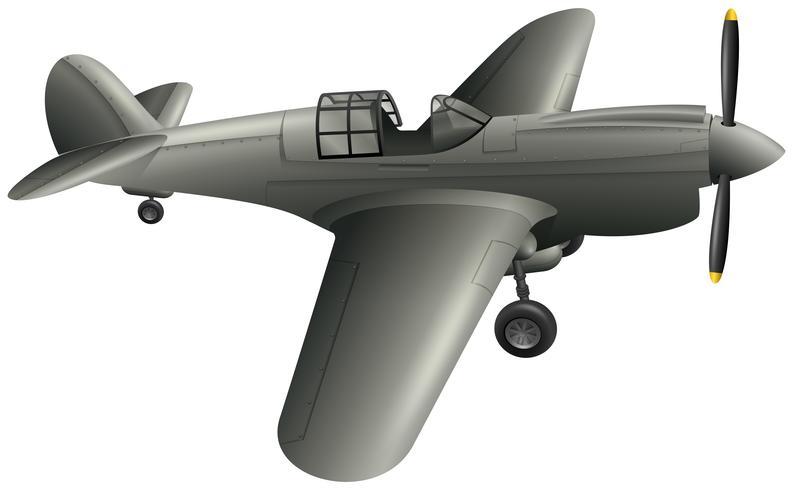 Avião do exército em fundo branco