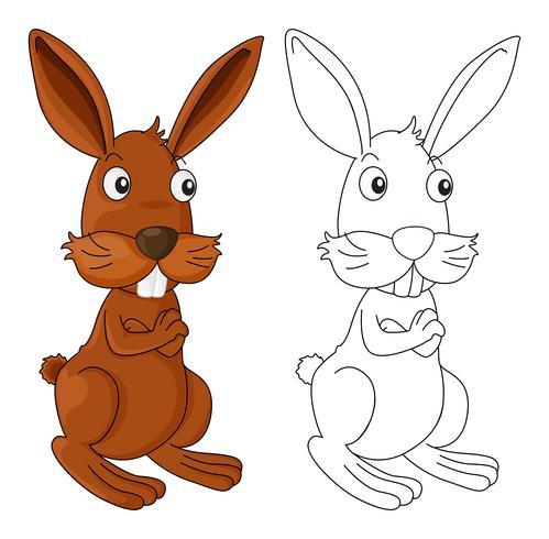 Djur skiss för vild kanin