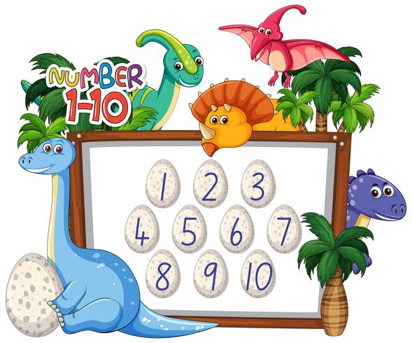Mathräkning nummer dinosaur tema