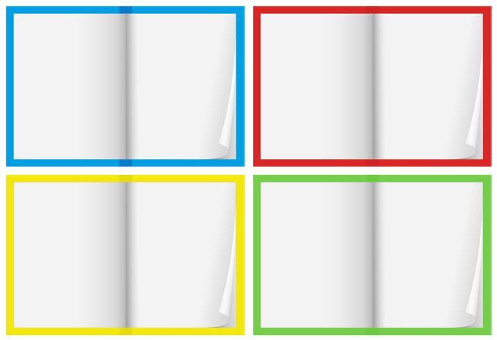 Um conjunto de caderno em branco