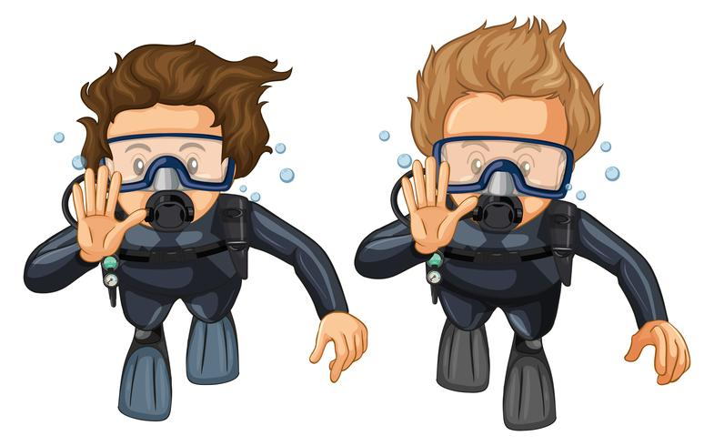 Hand gesture for scuba diving