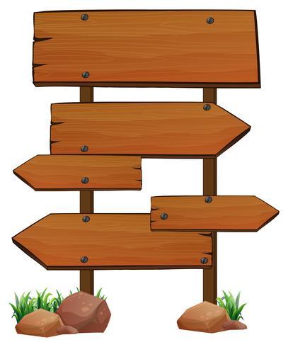 Modèle de panneaux en bois sur fond blanc