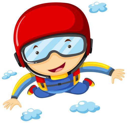 Atleta haciendo paracaidismo solo