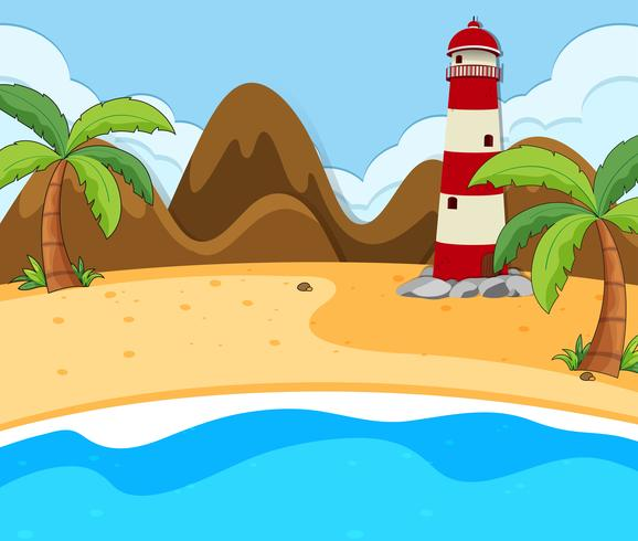 Una escena de verano en la playa.