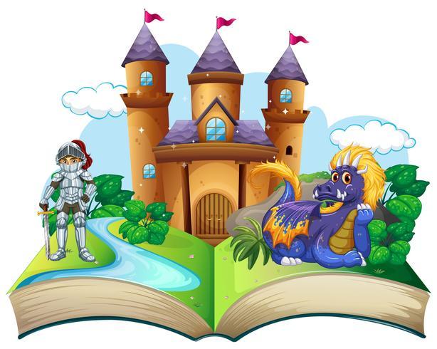 Märchenbuch mit Ritter und Drachen