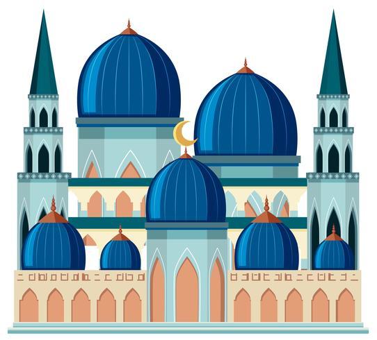 En vacker blå moské