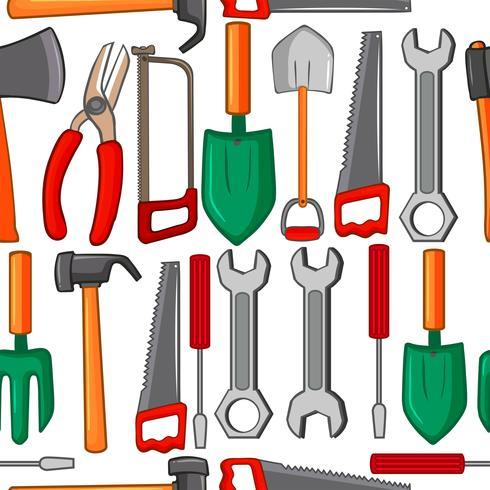 Sömlös bakgrund med handverktyg