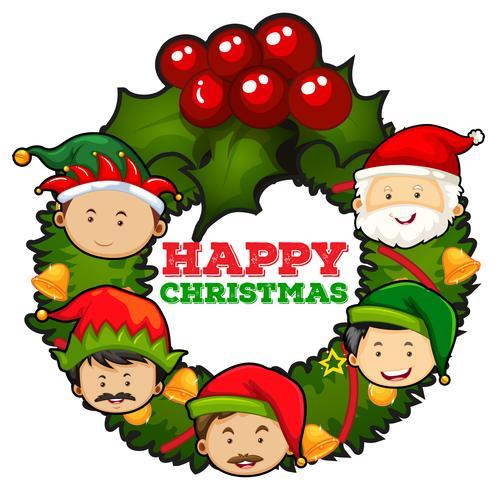 Julkortdesign med mistletoes