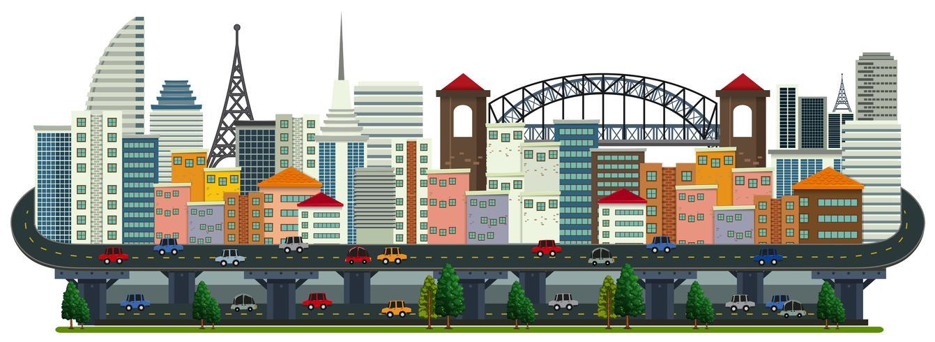 A Panorama of Big City Landscape