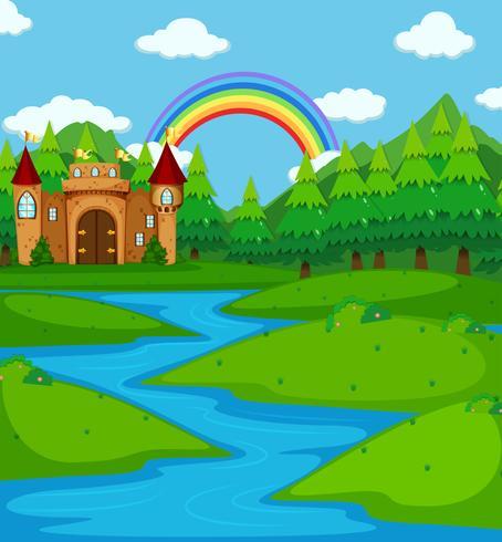 Torri del castello sul fiume