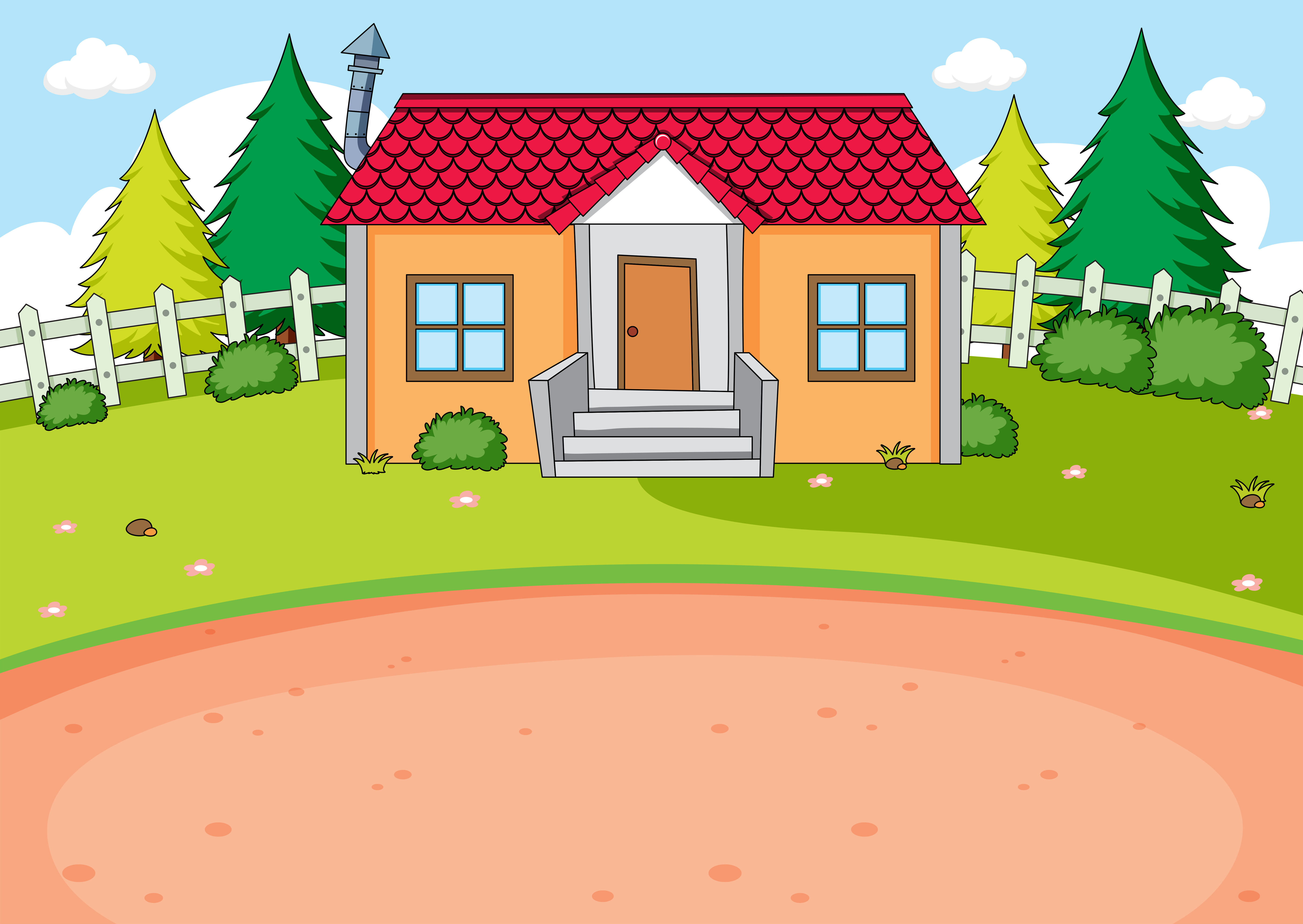Simple house design background download free vector art - Simple home design software free ...