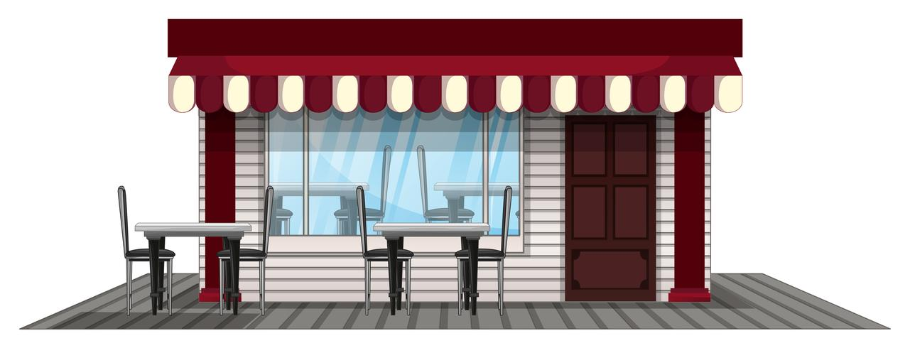 Shop-Design in rot lackiert