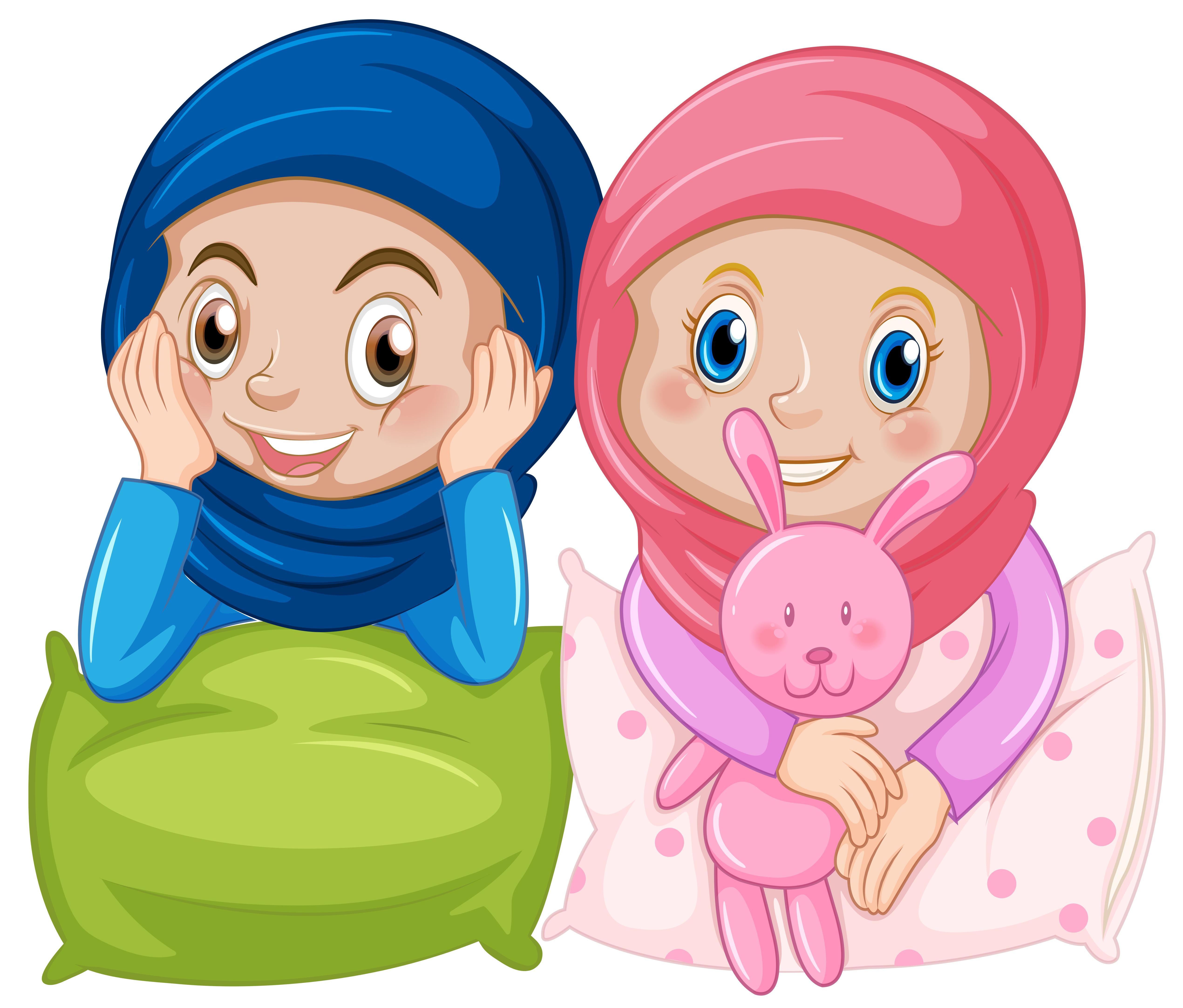 Muslim girl friend on white background - Download Free ...