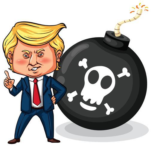 El presidente estadounidense Trump con bomba