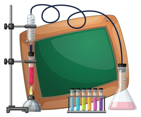 Board template with science equipments