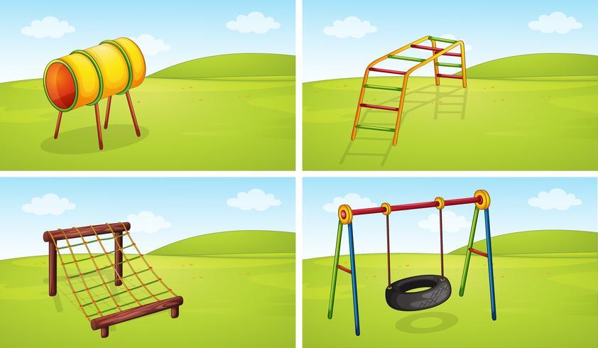 Set di attrezzature per parchi giochi