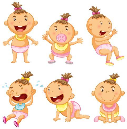 Baby in sechs Aktionen