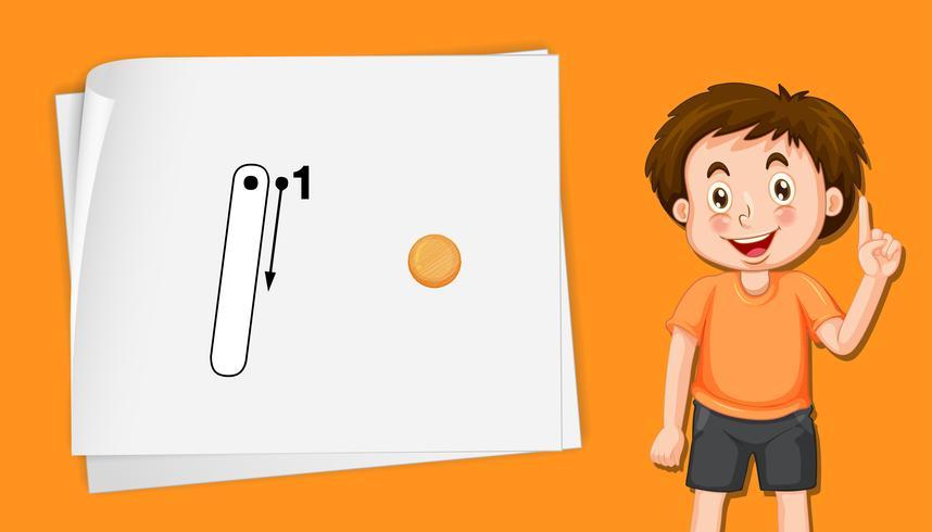 Nummer vijf tracing alfabet werkbladen