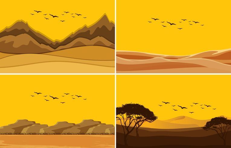 Een reeks deset zonsondergang