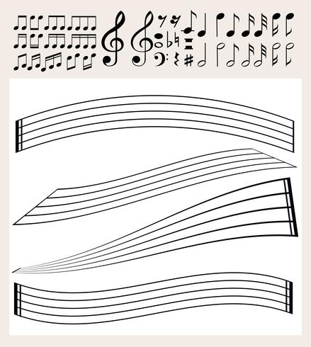 Music notes and scale template