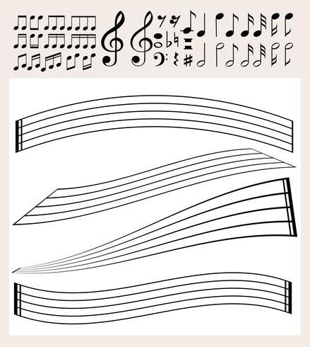 Musiknoten und Skalenvorlage vektor