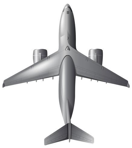Un aereo su sfondo bianco