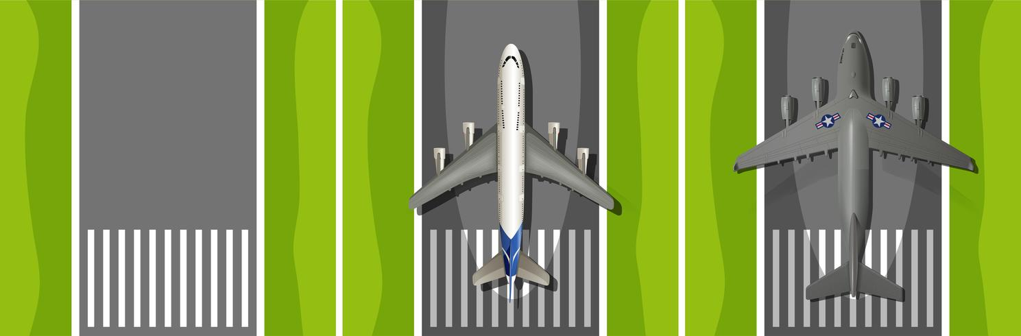 Flugzeug Startbahn entfernt