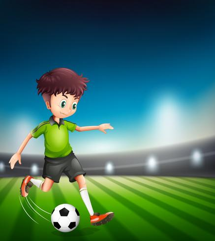 Un personaggio di calciatore vettore