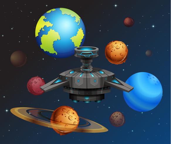 UFO i rymden vektor