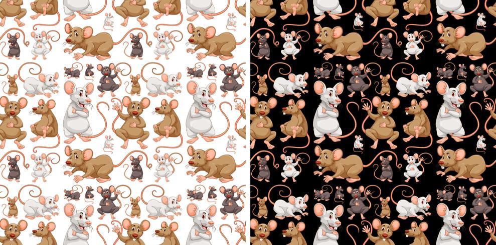 Design de plano de fundo sem emenda com ratos