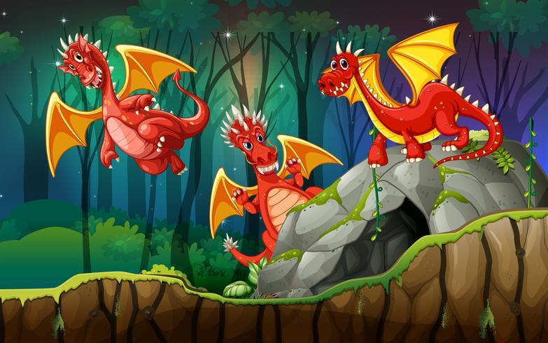 Dragon in magic land