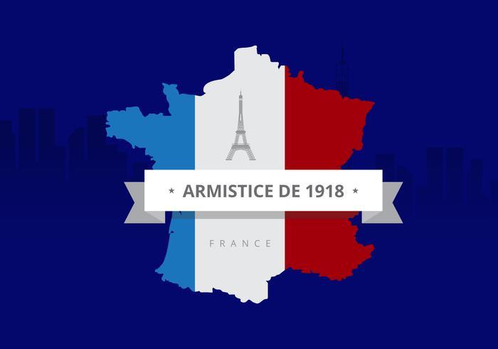 Frankrike Abstrakt karta flagga och blå bakgrund. Fransk flagga.