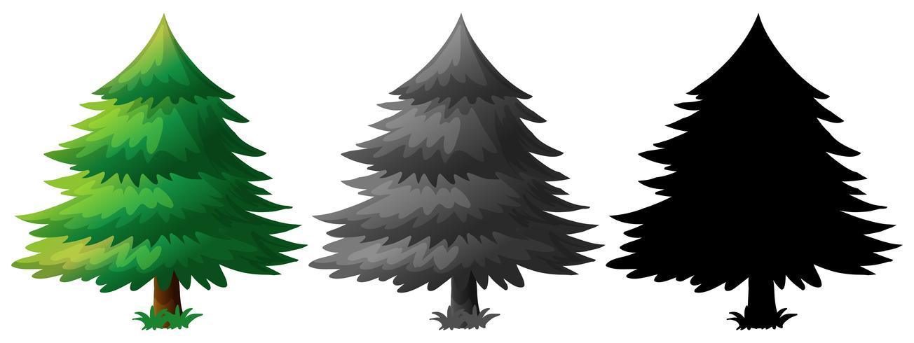 Set of pine tree