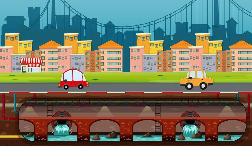 Uma vista panorâmica da cidade