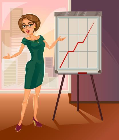 Vektor affärskvinna