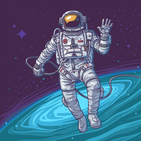 Cosmonauta di illustrazione vettoriale